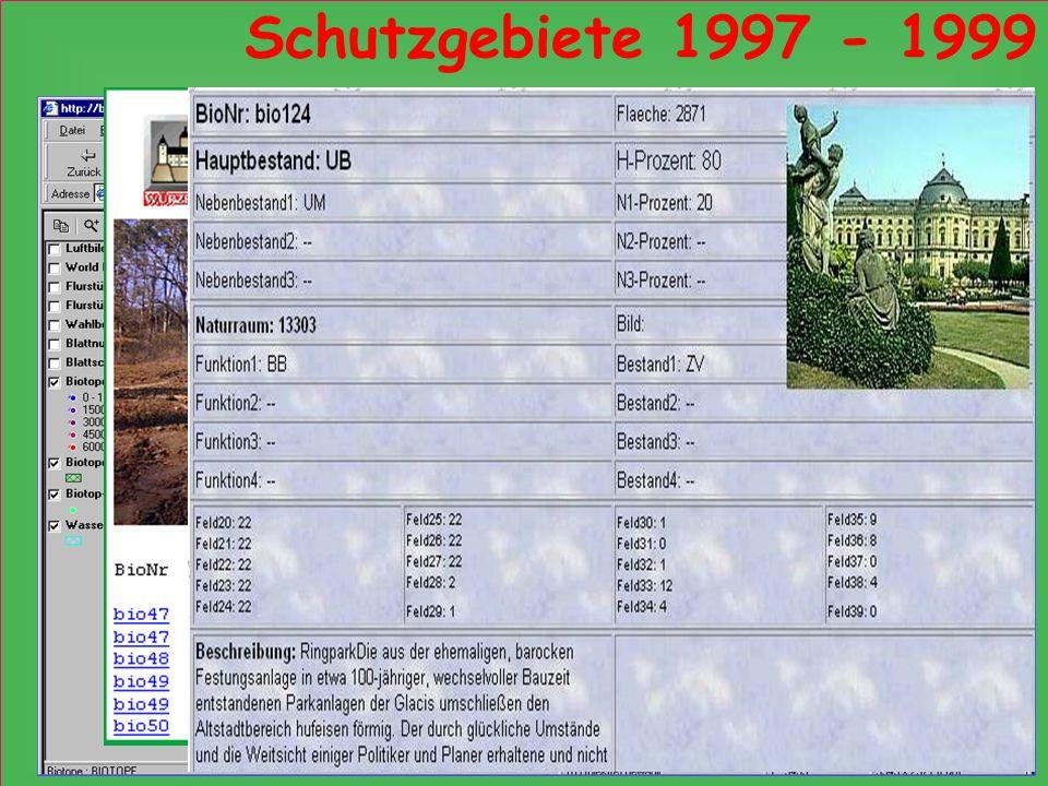 Schutzgebiete 1997 - 1999