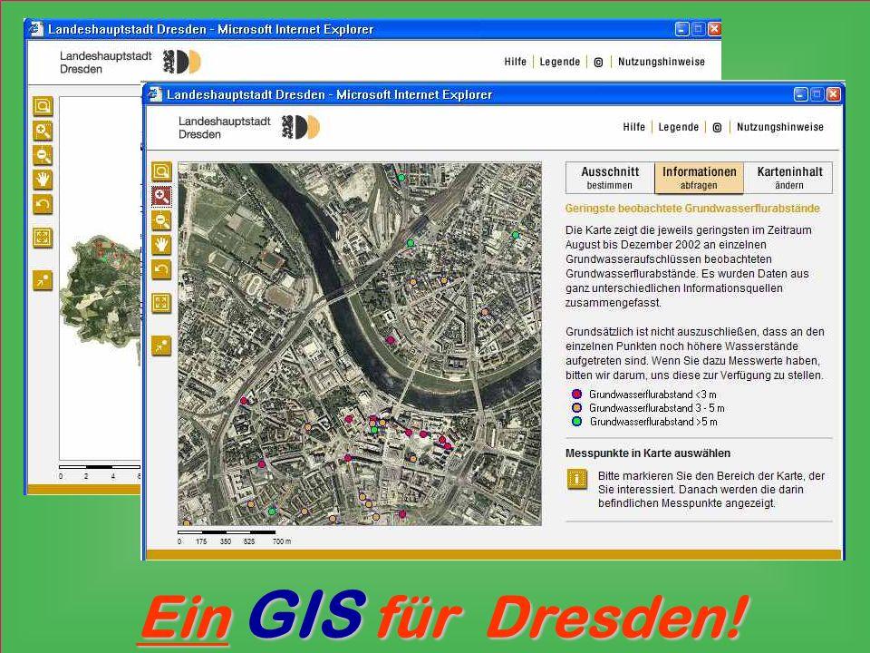 Abfragen alle Nutzer ntranet Intranet GIS in Intranet Karten erstellen / fortschreiben GIS-Objekte erstellen Vermessungsamt Datenanbindung bearbeiten / analysieren / Abfragen definieren Anwender GIS-Team Modellprojekte