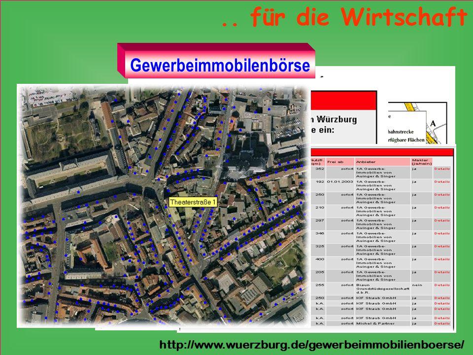 .. für die Wirtschaft http://www.wuerzburg.de/gewerbeimmobilienboerse/ Gewerbeimmobilenbörse
