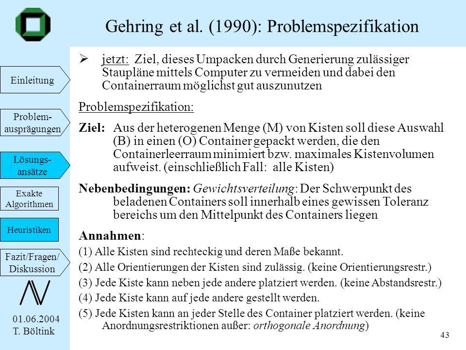 01.06.2004 T. Böltink Einleitung Problem- ausprägungen Lösungs- ansätze Fazit/Fragen/ Diskussion 43 jetzt: Ziel, dieses Umpacken durch Generierung zul