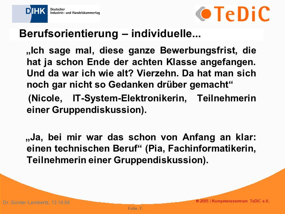 Kompetenzzentrum TeDiC e.V. Vielen Dank für Ihre Aufmerksamkeit!