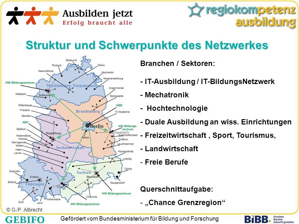 Gefördert vom Bundesministerium für Bildung und Forschung © G./P. Albrecht Branchen / Sektoren: - IT-Ausbildung / IT-BildungsNetzwerk - Mechatronik -