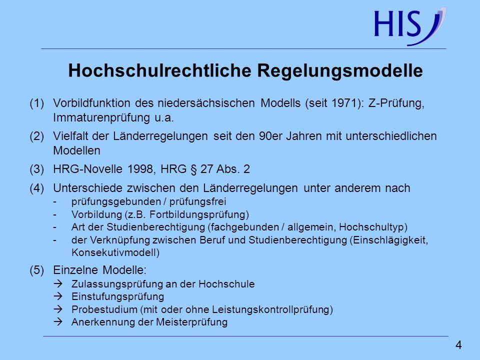 5 Zusammensetzung der deutschen Studienanfänger(innen) nach Art der Studienberechtigung/Vorbildung, 2003 (in %)