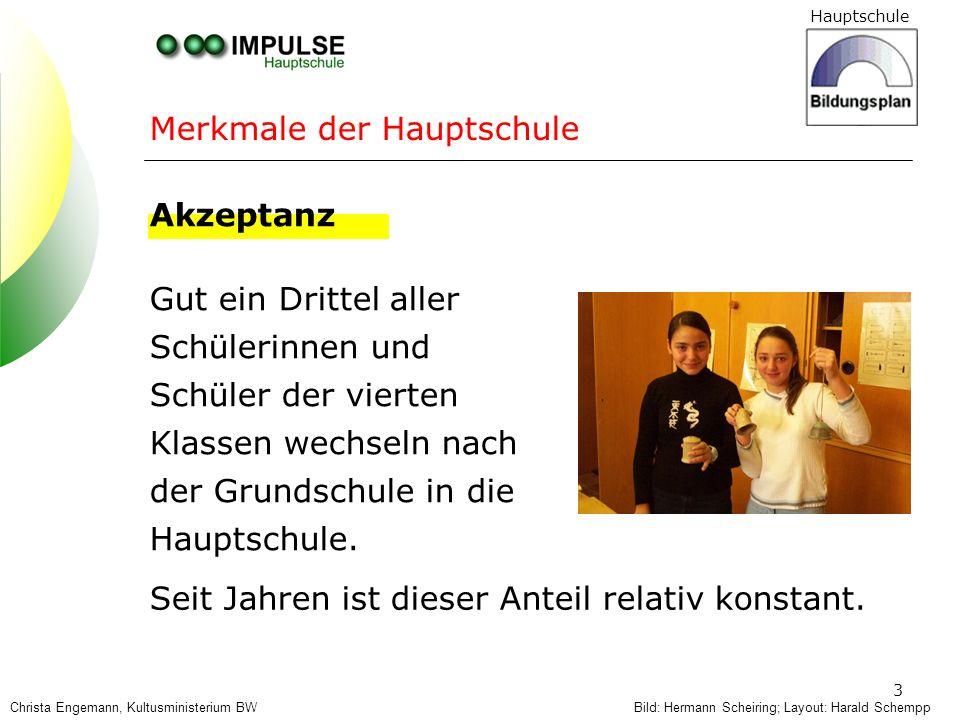 Hauptschule 24 Layout: Harald SchemppChrista Engemann, Kultusministerium BW Erkennen Akzeptieren Fördern Förderkonzepte