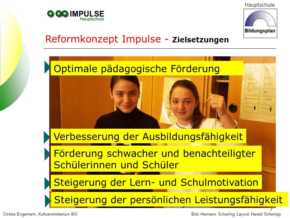 Hauptschule 18 3 Neue Fächerzuschnitte, z.B.