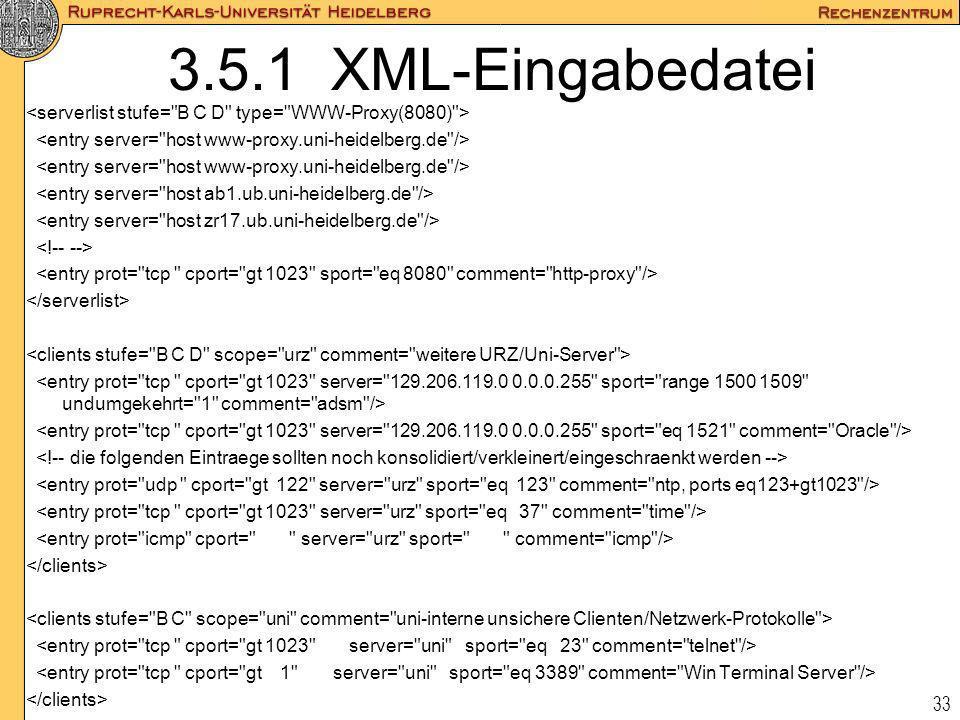 33 3.5.1 XML-Eingabedatei