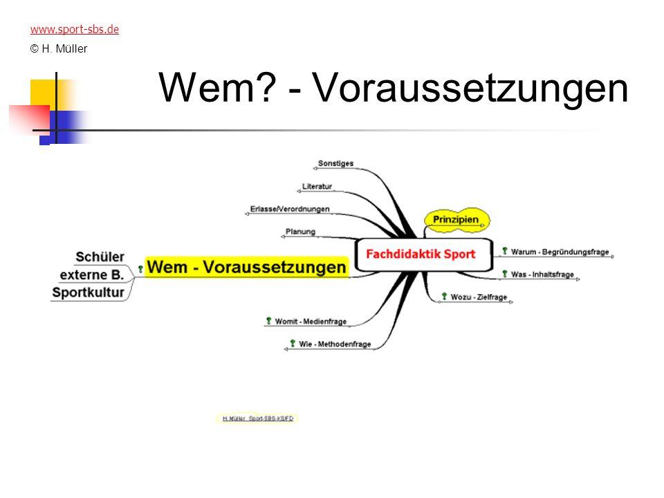 Wem? - Voraussetzungen www.sport-sbs.de © H. Müller