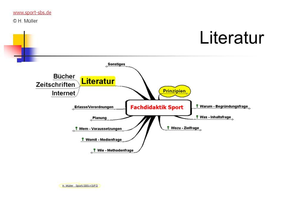 Literatur www.sport-sbs.de © H. Müller