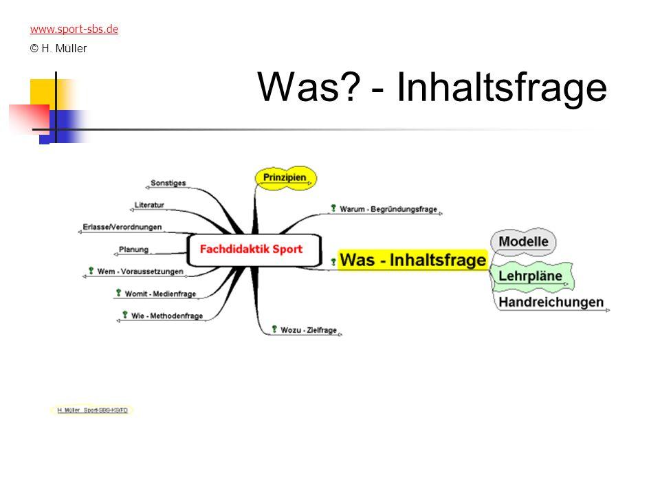 Was? - Inhaltsfrage www.sport-sbs.de © H. Müller