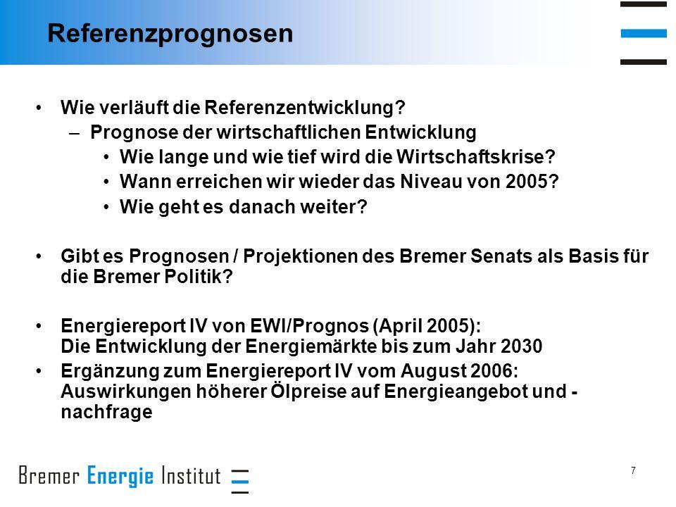 7 Referenzprognosen Wie verläuft die Referenzentwicklung.