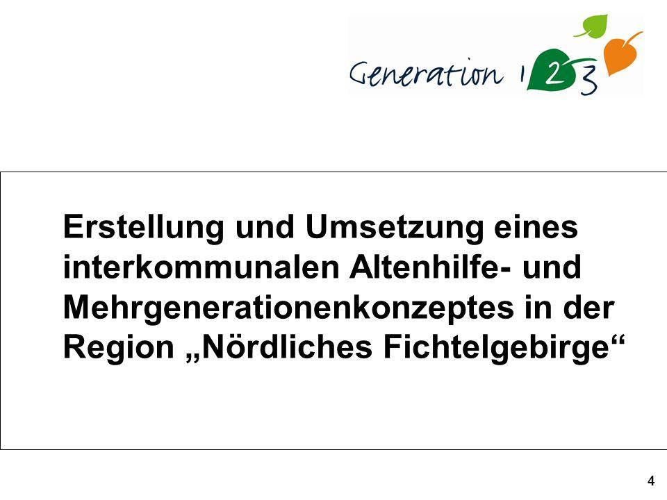 4 Erstellung und Umsetzung eines interkommunalen Altenhilfe- und Mehrgenerationenkonzeptes in der Region Nördliches Fichtelgebirge