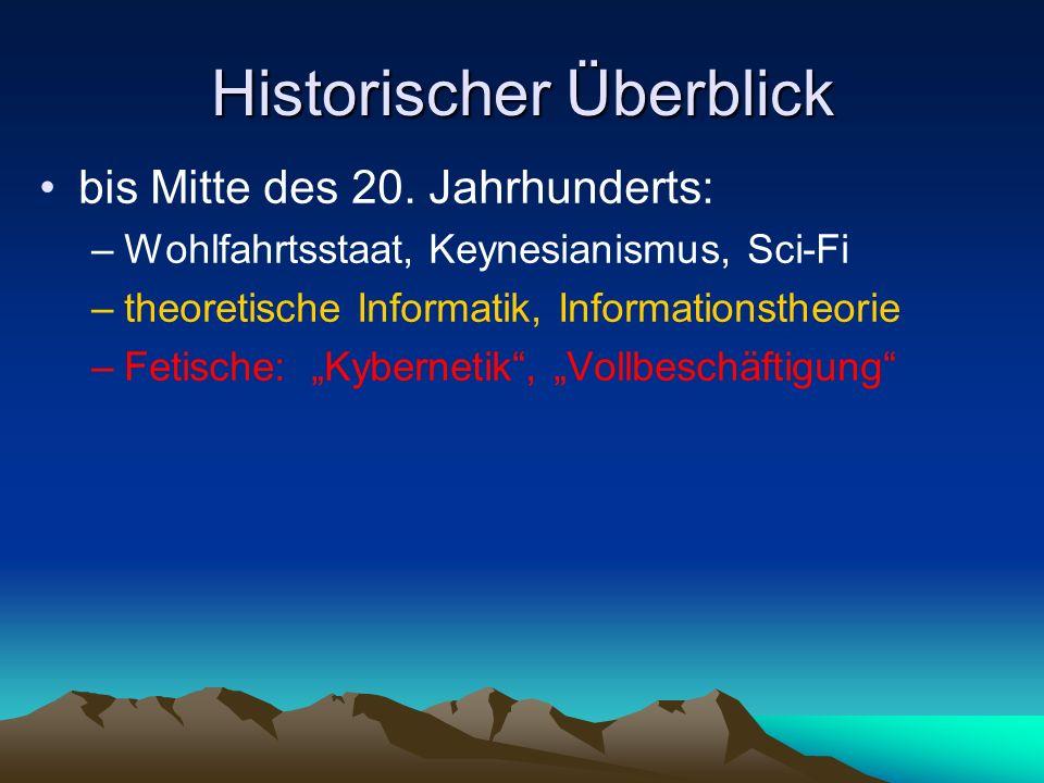 Historischer Überblick bis Mitte des 20.