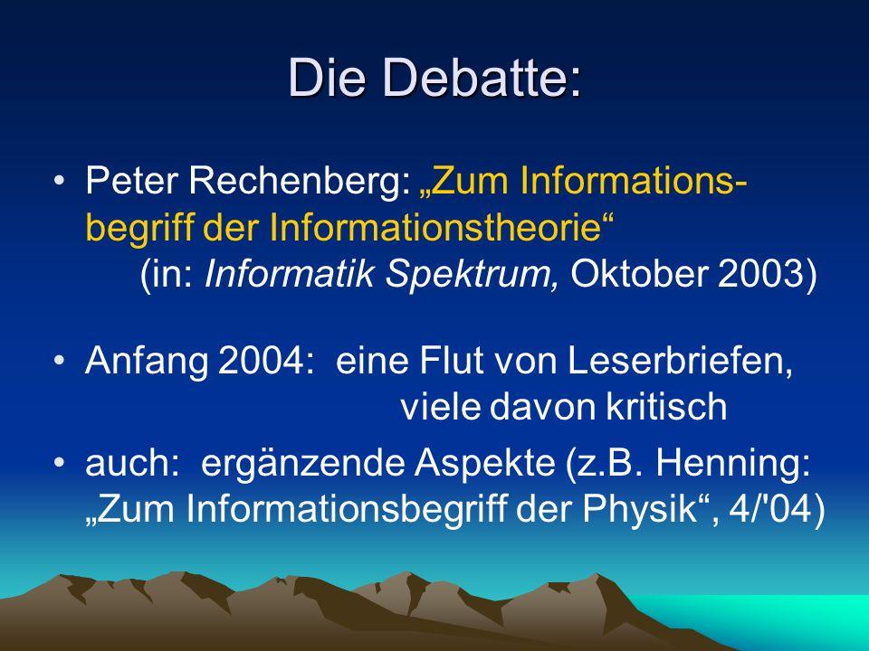 Daten – Information – Wissen Abstraktion anwendungs- bezogen Semantik W I S S E N I N F O R M A T I O N D A T E N KonkretionRohmaterialSyntax
