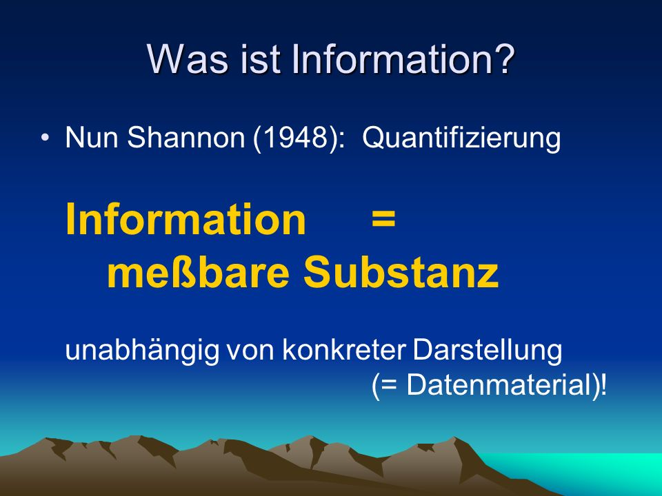 Shannons Quasi-Physik Physik und Informationstheorie gleichermaßen: Objektivität der Erkenntnis basierend auf Mathematik als Formalismus / Kalkül unterhalten ein instrumentelles Verhältnis zur Mathematik (Hilfswissenschaft)