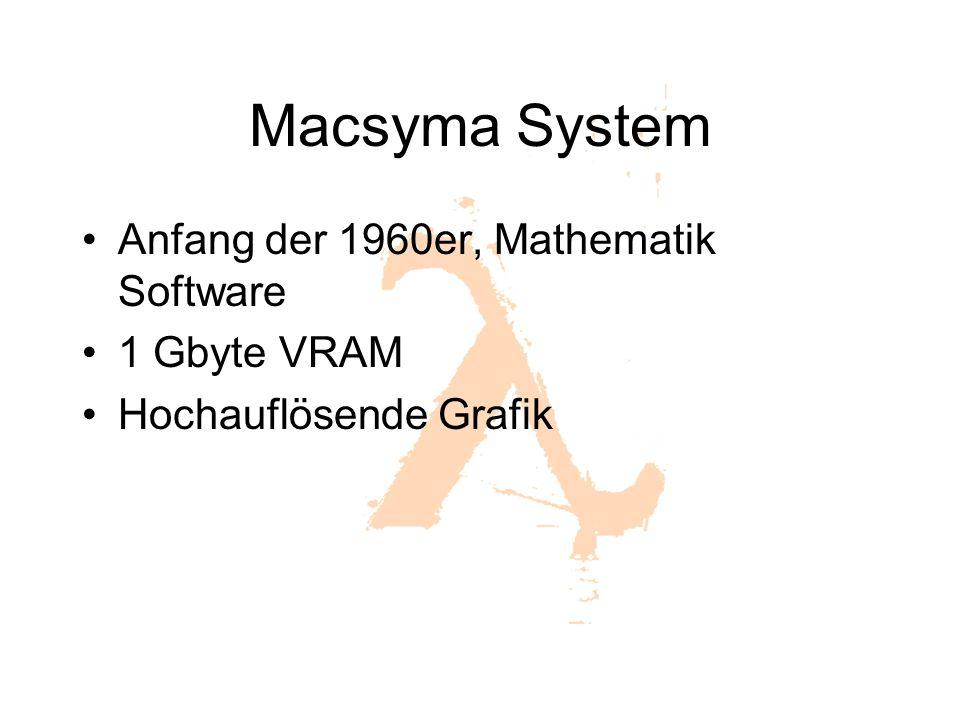Macsyma System Anfang der 1960er, Mathematik Software 1 Gbyte VRAM Hochauflösende Grafik