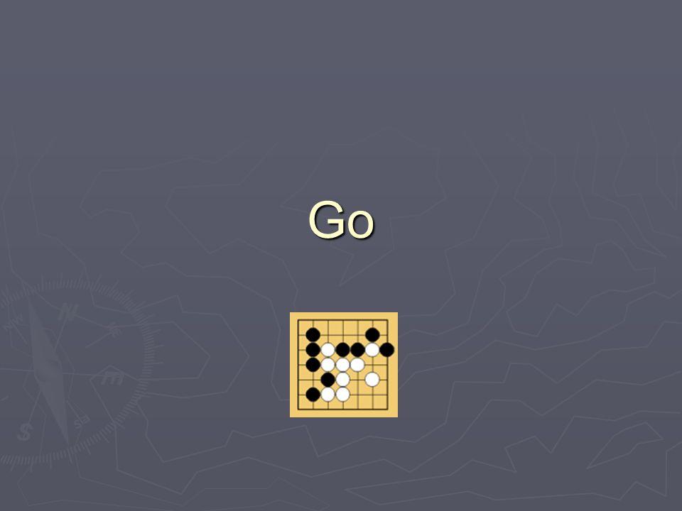 Grundregeln Go spielt man auf einem Brett Go spielt man auf einem Brett Es gibt 2 Farben: schwarz und weiss Es gibt 2 Farben: schwarz und weiss Schwarz beginnt Schwarz beginnt Es wird abwechselnd gespielt Es wird abwechselnd gespielt
