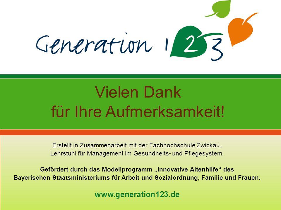 Vielen Dank für Ihre Aufmerksamkeit! Erstellt in Zusammenarbeit mit der Fachhochschule Zwickau, Lehrstuhl für Management im Gesundheits- und Pflegesys