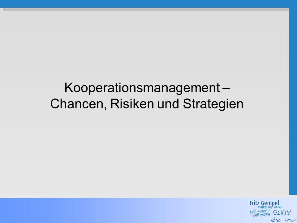 2 Gemeinsam ist man stärker – Die fünf Phasen der Kooperation Kooperations- bedarf Partnersuche und -auswahl Aufbau- organisation Betriebs- phase Verbesserung ggf.