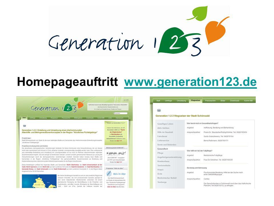 Homepageauftritt www.generation123.dewww.generation123.de