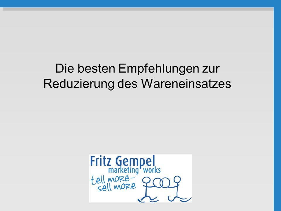2.Schaufenster- kalkulation 12 Empfehlung: Intelligente Preispolitik.