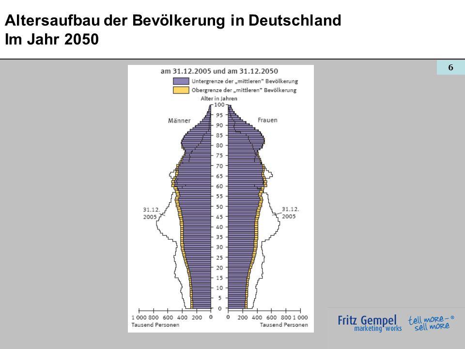 6 Altersaufbau der Bevölkerung in Deutschland Im Jahr 2050