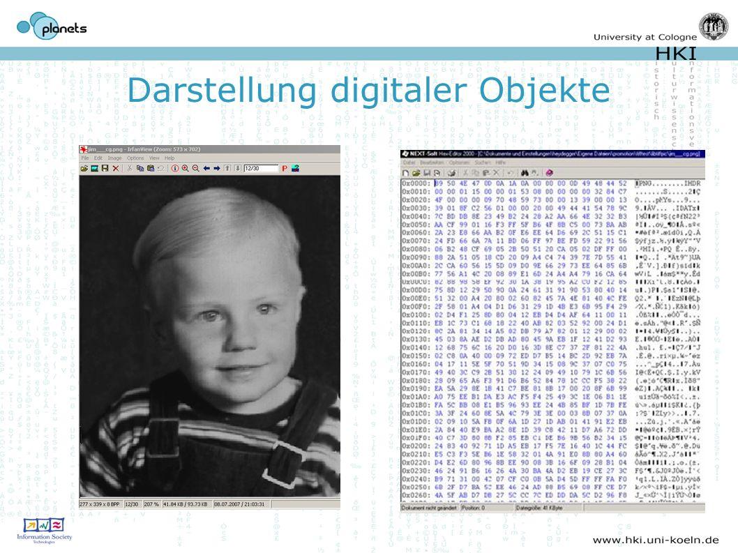 Darstellung digitaler Objekte