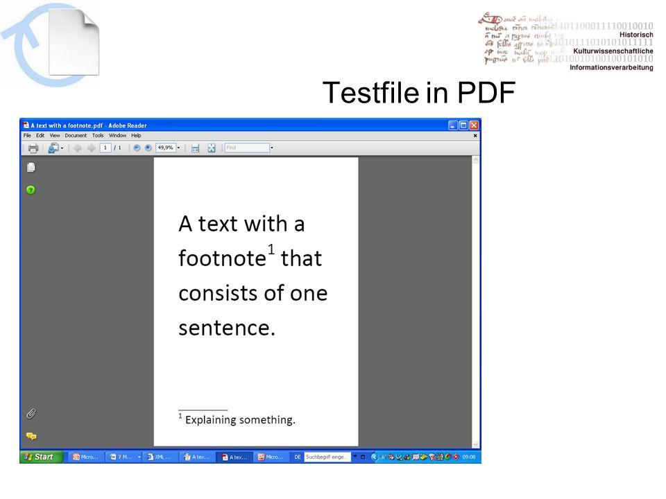 Testfile in PDF