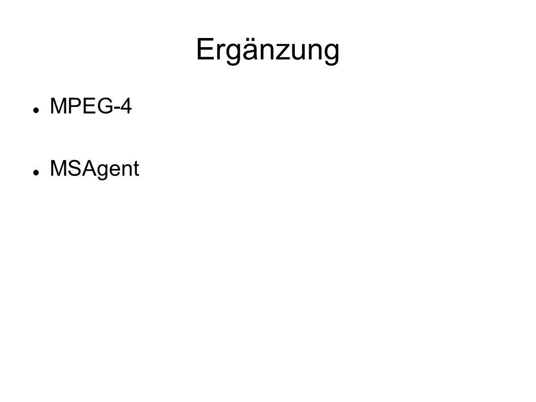 Ergänzung MPEG-4 MSAgent