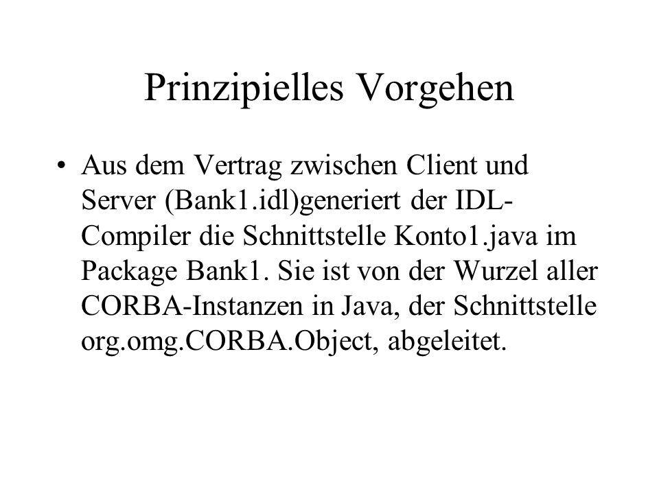 SERVANT IKonto1Impl.java Das ist der Programmcode, der die Implementierung übernimmt.