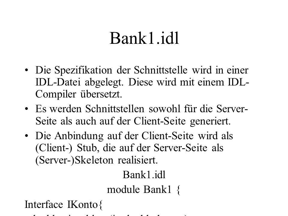 OMG-IDL-Syntax Eine IDL-Datei kann Module enthalten.