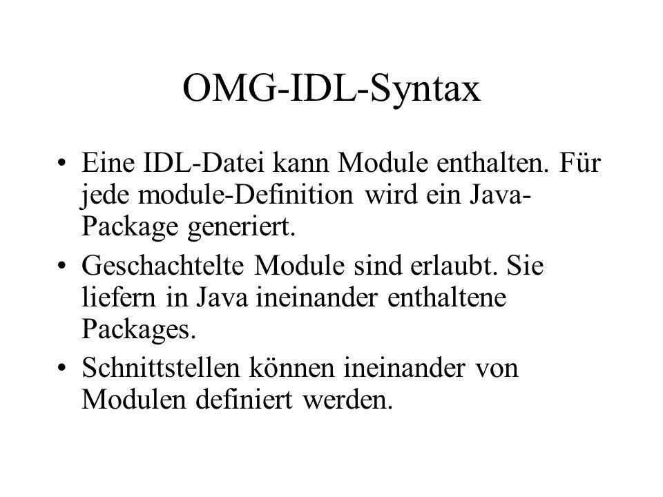 Für jede interface-Definition (z.B.