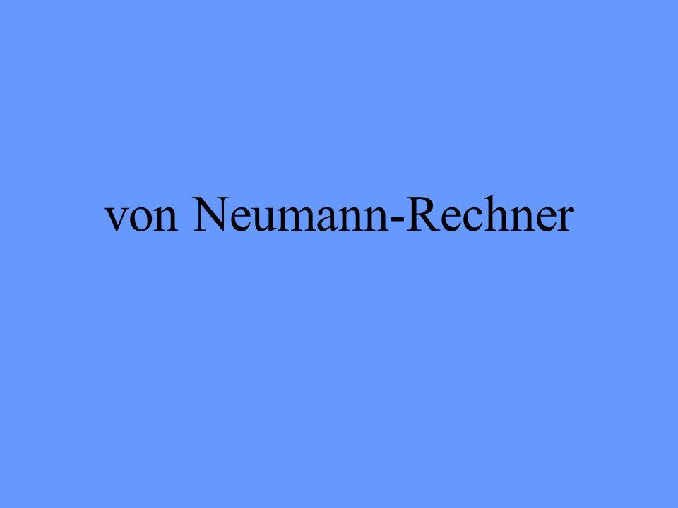 Mathematiker, Physiker und Sprachexperte Beteiligte sich 1943-1946 am Bau des ENIAC (Eletronic Numerial Integrator And Computer) Entwarf den von-Neumann-Rechner, auf dessen Prinzip heutige Rechner aufgebaut sind John von Neumann (1903-1957)