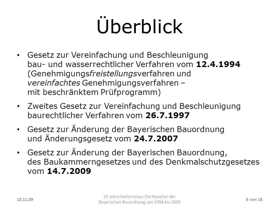 Genehmigungs-Pflicht Genehmigungs-Freistellung: Erweiterung bis zur Sonderbautengrenze (Art.
