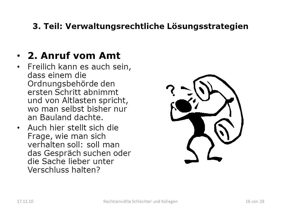 3.Teil: Verwaltungsrechtliche Lösungsstrategien 2.