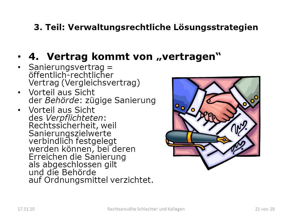 3.Teil: Verwaltungsrechtliche Lösungsstrategien 4.