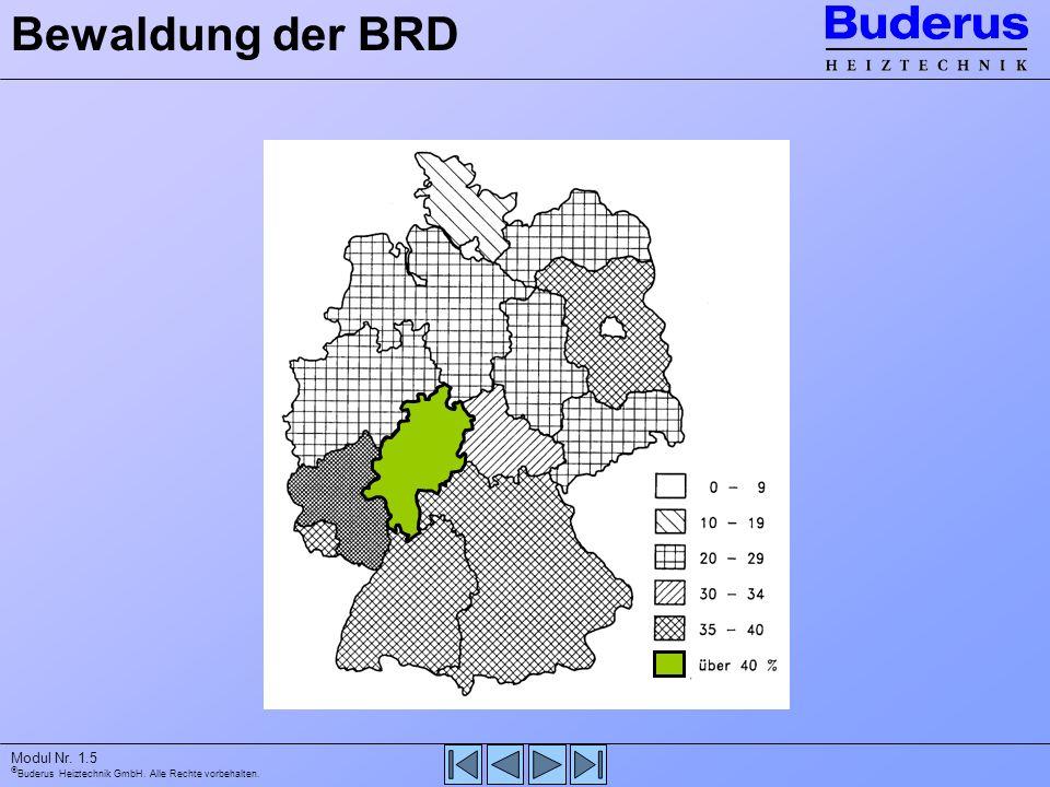 Buderus Heiztechnik GmbH. Alle Rechte vorbehalten. Modul Nr. 1.5 Bewaldung der BRD