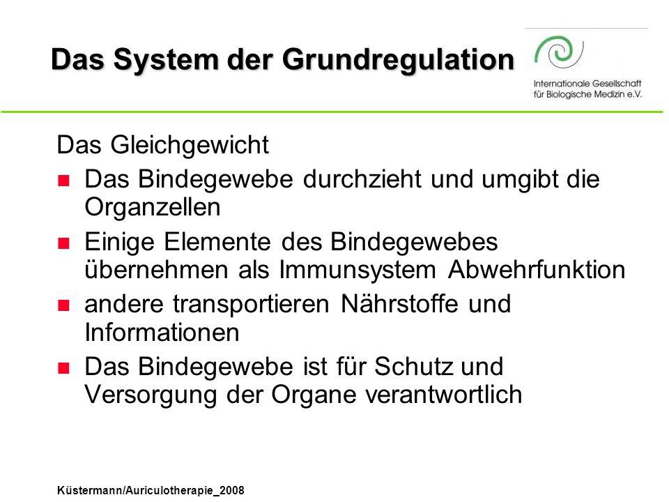 Das System der Grundregulation Das Gleichgewicht n Das Bindegewebe durchzieht und umgibt die Organzellen n Einige Elemente des Bindegewebes übernehmen