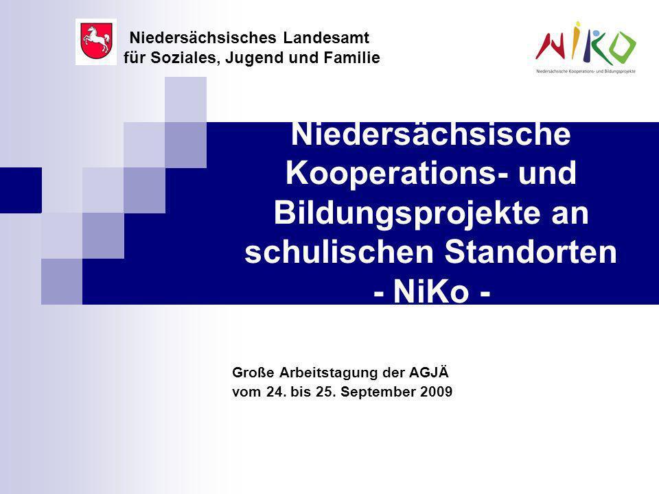 Niedersächsische Kooperations- und Bildungsprojekte an schulischen Standorten - NiKo - Große Arbeitstagung der AGJÄ vom 24.