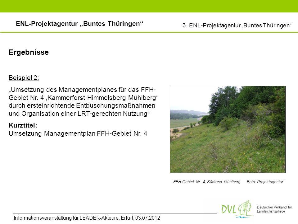 Deutscher Verband für Landschaftspflege Beispiel 2: Umsetzung des Managementplanes für das FFH- Gebiet Nr.