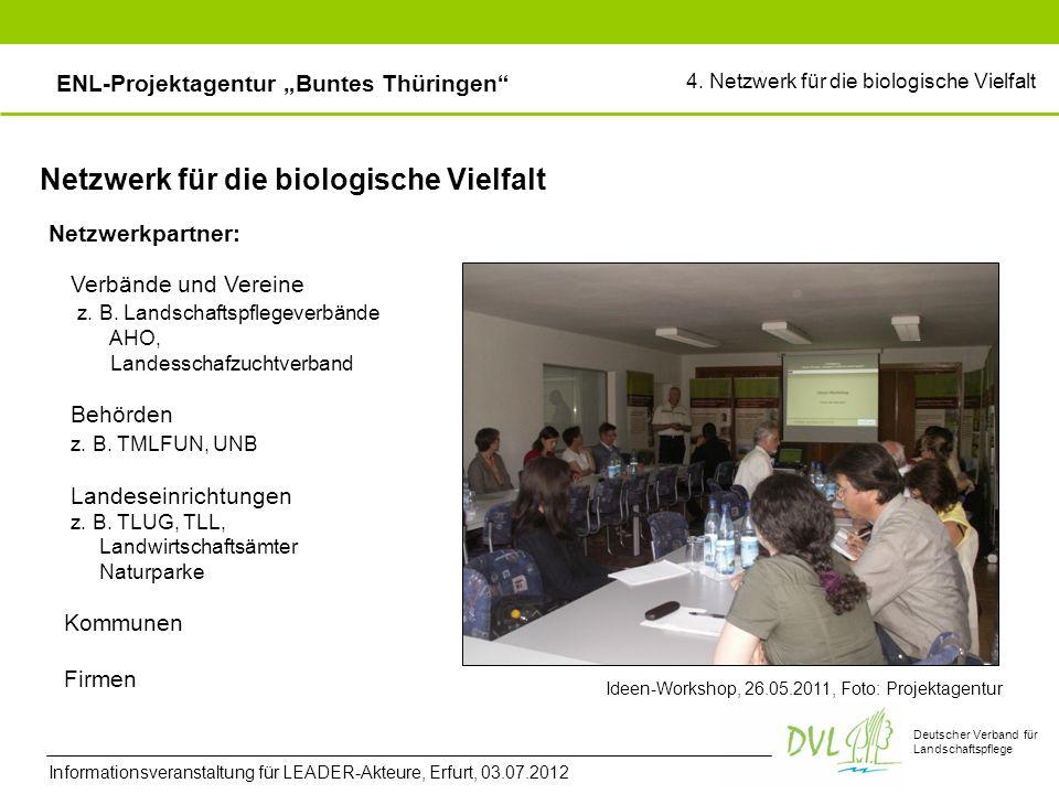 Deutscher Verband für Landschaftspflege Netzwerk für die biologische Vielfalt Netzwerkpartner: Ideen-Workshop, 26.05.2011, Foto: Projektagentur Verbände und Vereine z.