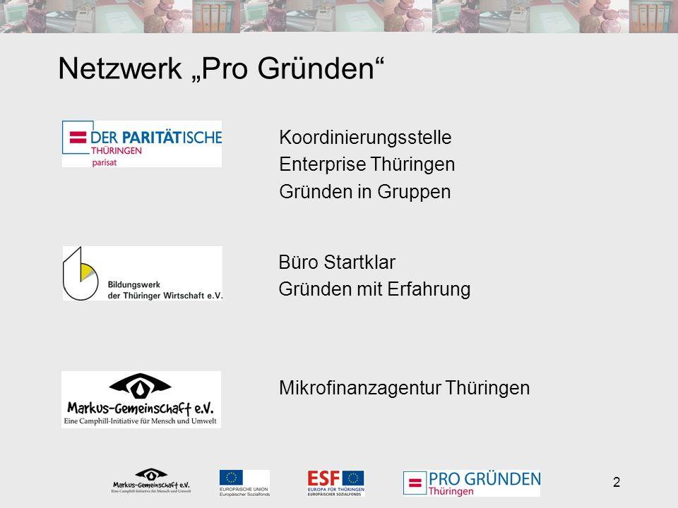 2 Netzwerk Pro Gründen Büro Startklar Gründen mit Erfahrung Mikrofinanzagentur Thüringen Koordinierungsstelle Enterprise Thüringen Gründen in Gruppen