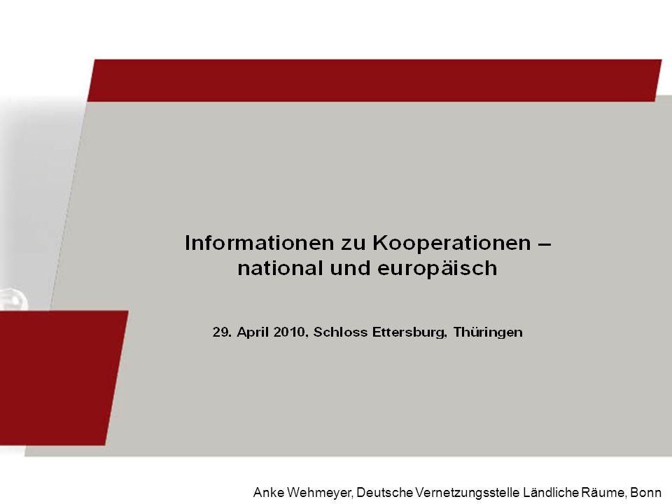 Anke Wehmeyer, Deutsche Vernetzungsstelle Ländliche Räume, Bonn
