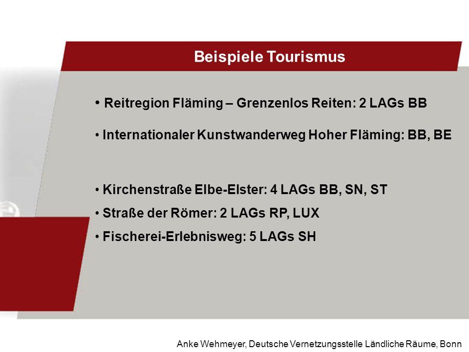 Anke Wehmeyer, Deutsche Vernetzungsstelle Ländliche Räume, Bonn Beispiele Tourismus Reitregion Fläming – Grenzenlos Reiten: 2 LAGs BB Internationaler