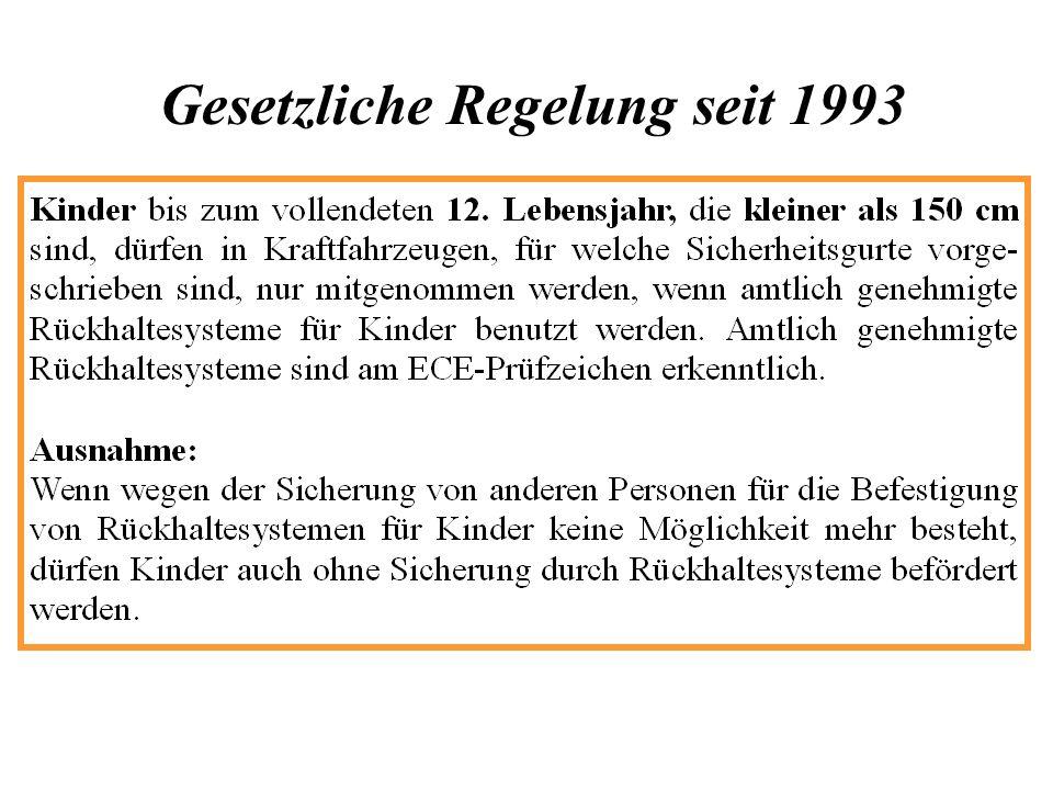 Gesetzliche Regelung seit 1993