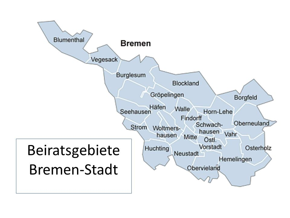 Beiratsgebiete Bremen-Stadt