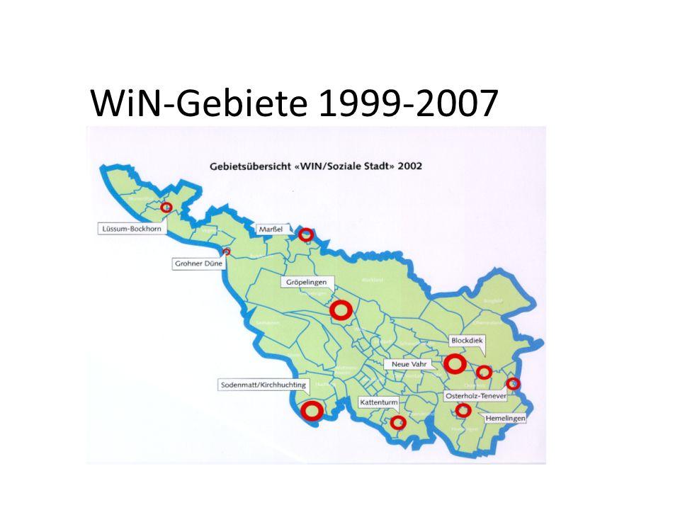 WiN-Gebiete 1999-2007