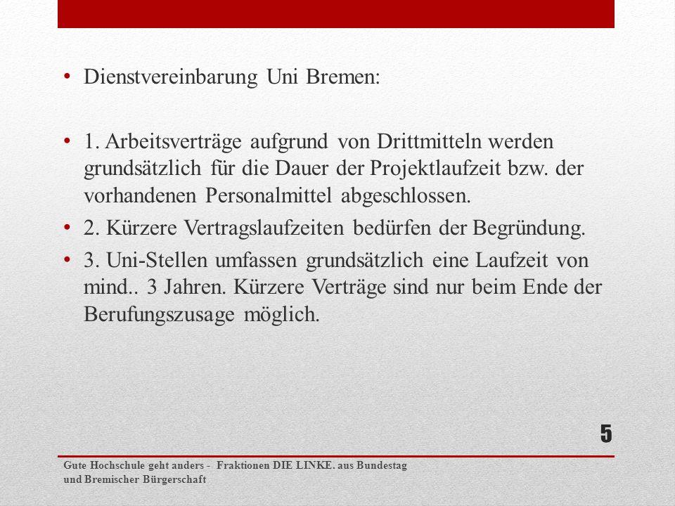 Dienstvereinbarung Uni Bremen: 1.