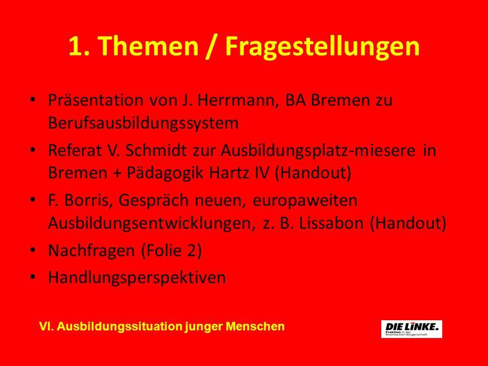 1. Themen / Fragestellungen Präsentation von J.