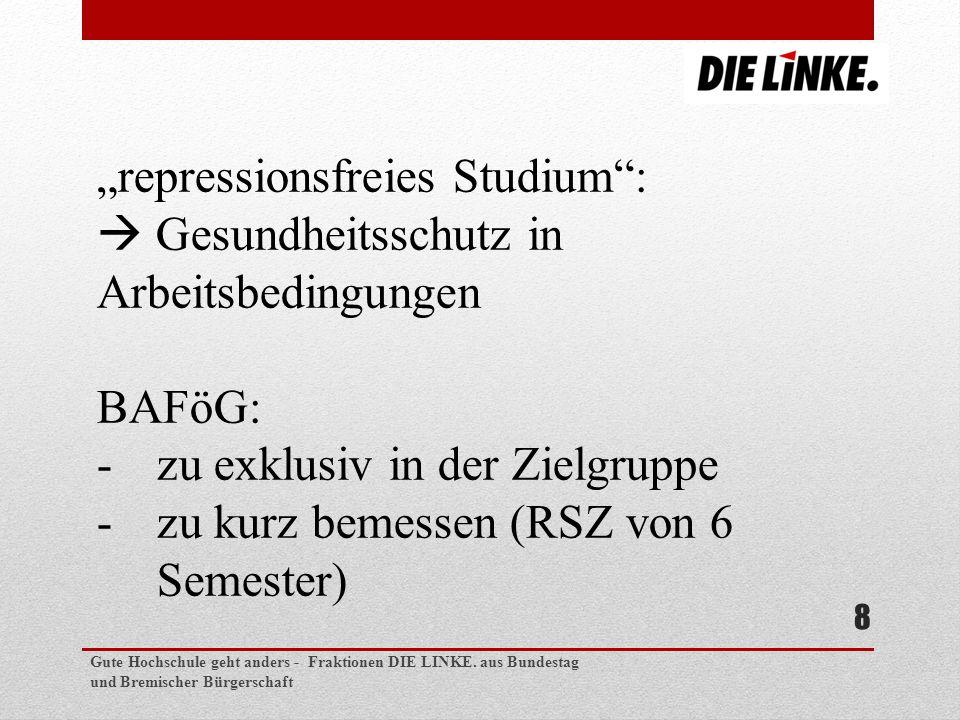 Gute Hochschule geht anders - Fraktionen DIE LINKE.
