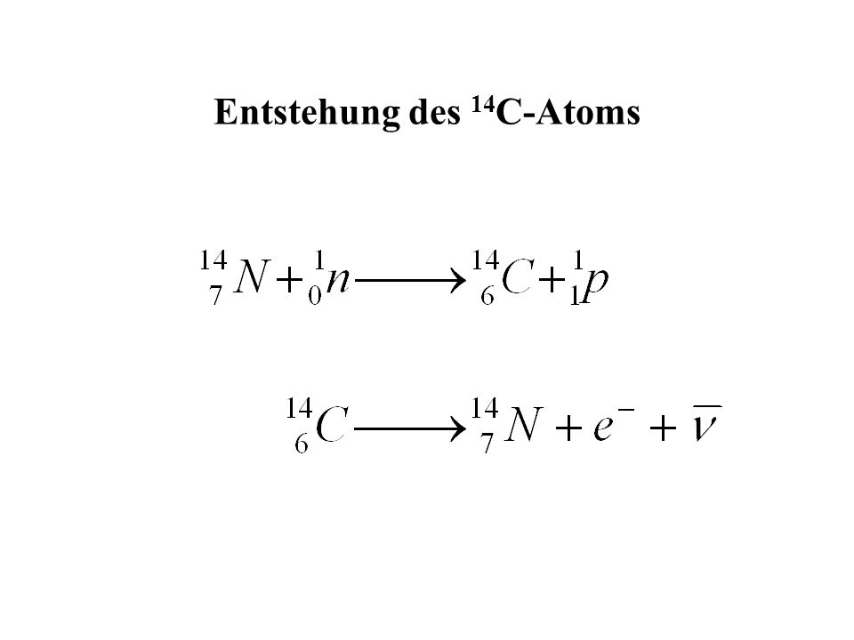 Entstehung des 14 C-Atoms